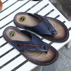 Shino - Paneled Flip-Flops