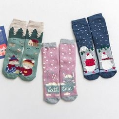 Knit a Bit - Set of 3: Animal Print Socks