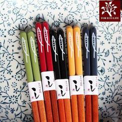 Kawa Simaya - Fish-Print Chopsticks (Set of 5)