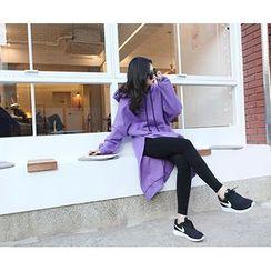 MARSHMALLOW - Slit-Side Hooded Long Top