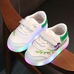 綠豆蛙童鞋 - 兒童繡花休閒鞋