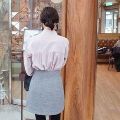mimi&didi - Half-Placket Shirred Cotton Top