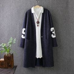 Blue Rose - Number Long Cardigan