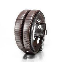Trend Cool - Buckled Genuine Leather Bracelet