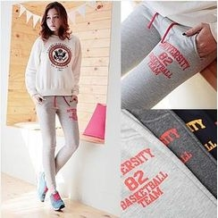 WiziKorea W - Printed Brushed-Fleece Leggings