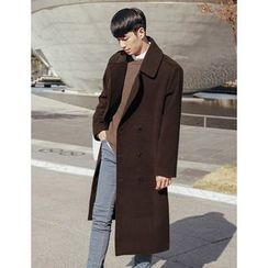 STYLEMAN - Wool Blend Double-Breasted Coat