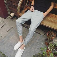 子俊 - 纯色低胯裤