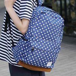 Vintage Kiss - Print Canvas Backpack