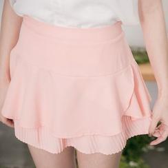 东京著衣 - 打褶裥荷叶裙裤