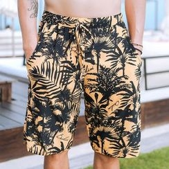 BOIE - Palm Tree Print Swim Shorts