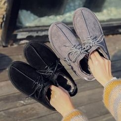 SouthBay Shoes - Fleece Lined Lace Up Shoes