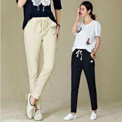 GLIT - Plain Drawstring Pants