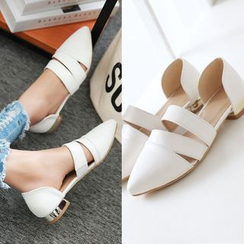 Charming Kicks - Cutout Pointed Flats