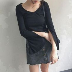 EEKO - Long-Sleeve Bell Sleeve T-Shirt