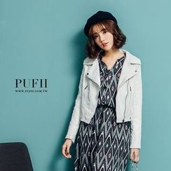 PUFII - Faux-Leather Jacket