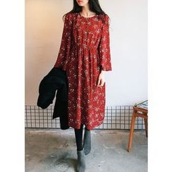J-ANN - Floral Print A-Line Dress