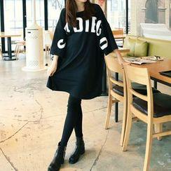 Carabecca - 印字中袖T恤連衣裙