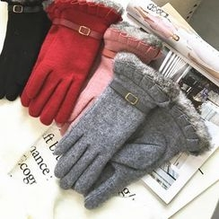 FROME - Buckled Wool Gloves