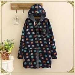 TOJI - Printed Hooded Coat