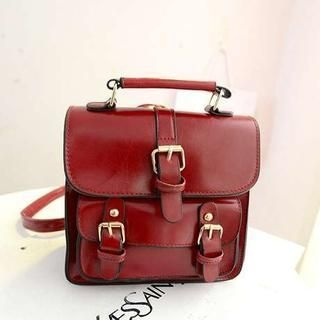 M.R. - Faux-Leather Buckled Satchel