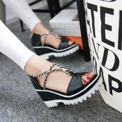 TULASI - Strappy Wedge Sandals