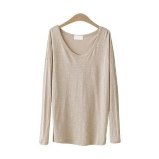 PEPER - Cotton Blend Scoop-Neck T-Shirt