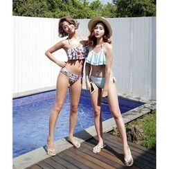 Blue Lagoon - Ruffled Bikini