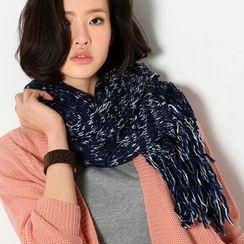 YesStyle Z - 流蘇混紡針織圍巾