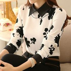 Angel Shine - Embroidered Chiffon Blouse
