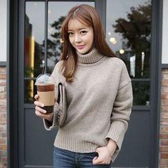 lilygirl - 純色樽領毛衣