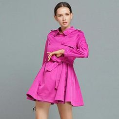 YiGelila - Tie-Waist Double-Breasted Trench Coat