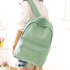 Canvas Love - Leaf Print Backpack