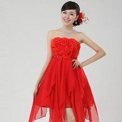 Bridal Workshop - Strapless Rosette Chiffon Party Dress