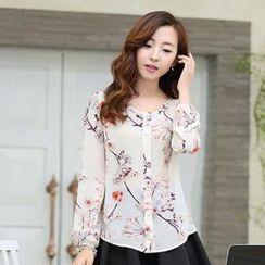 Romantica - Patterned Chiffon Shirt
