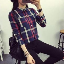 Enjoi - 格子長袖襯衫