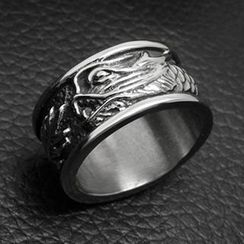Andante - Titanium Steel Dragon Ring