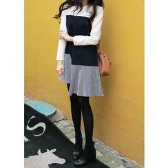 J-ANN - Color-Block A-Line Dress