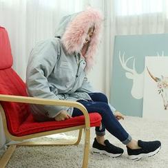 Dodostyle - Faux Fur-Trim Hooded Parka