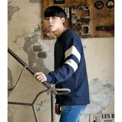 ABOKI - Color-Block Sleeve Sweatshirt