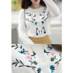 MyFiona - Bird Embroidered Sweater