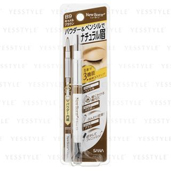 SANA - New Born W Brow Ex 3 in1 Eyebrow Pencil (#B9)