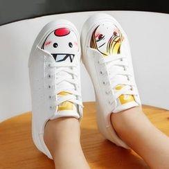 Renben - Cartoon Print Sneakers