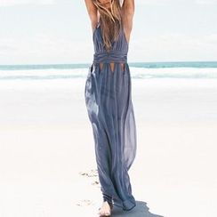 Katemi - 鏤空裝飾吊帶裙