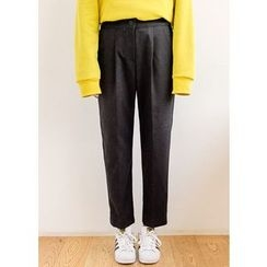 J-ANN - Pleat-Front Slim-Fit Pants