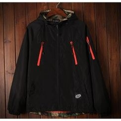 Bigboy - Applique Back Hooded Jacket