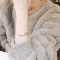 mimi&didi - Metal Tiered Open Bracelet