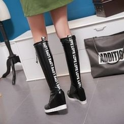JY Shoes - Hidden Wedge Tall Boots