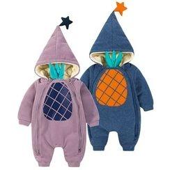 MOM Kiss - Baby Hooded Long-Sleeve One-Piece