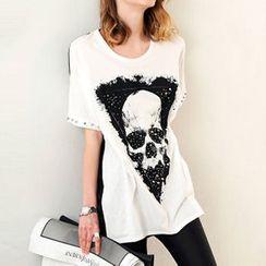 Ranee - Short-Sleeve Skull-Print T-Shirt