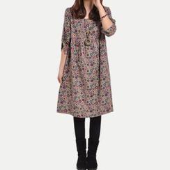 Splashmix - Long-Sleeve Printed Midi Dress